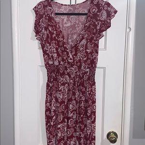Dresses - Floral Maroon Bodysuit
